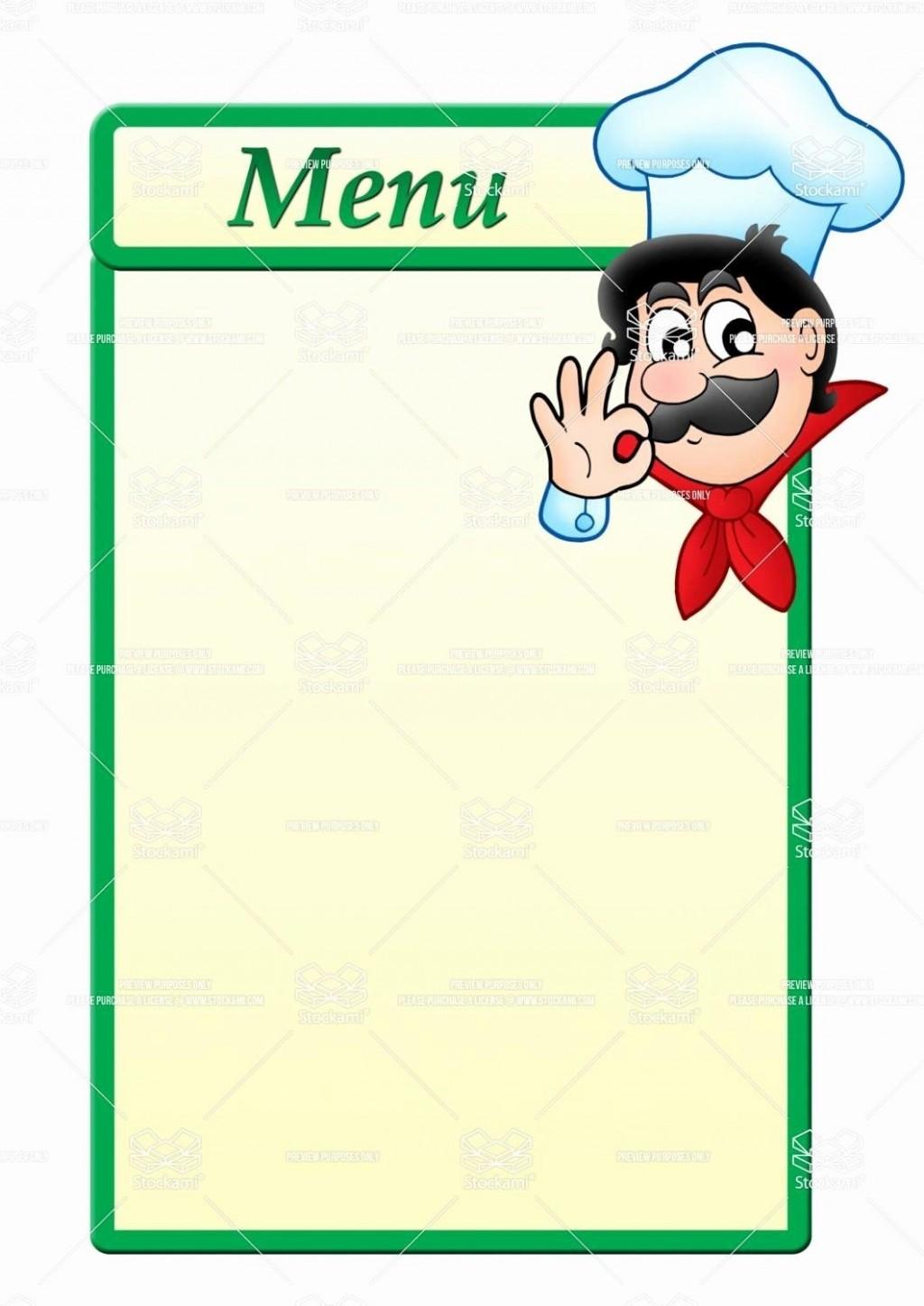 002 Simple Blank Restaurant Menu Template Photo  Free Printable DownloadableLarge