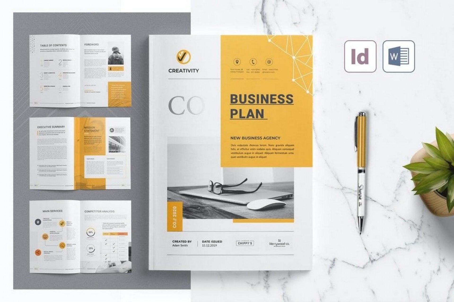 002 Simple Brochure Template For Wordpad High Resolution  Free1920
