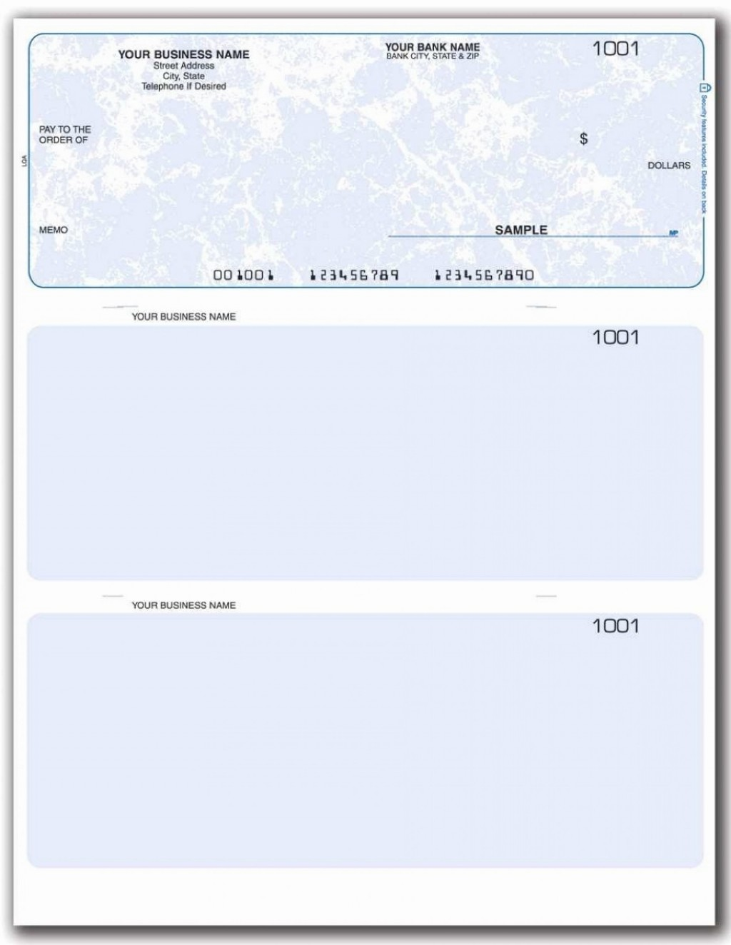 002 Simple Busines Check Template Word Example  Free Blank DocumentLarge