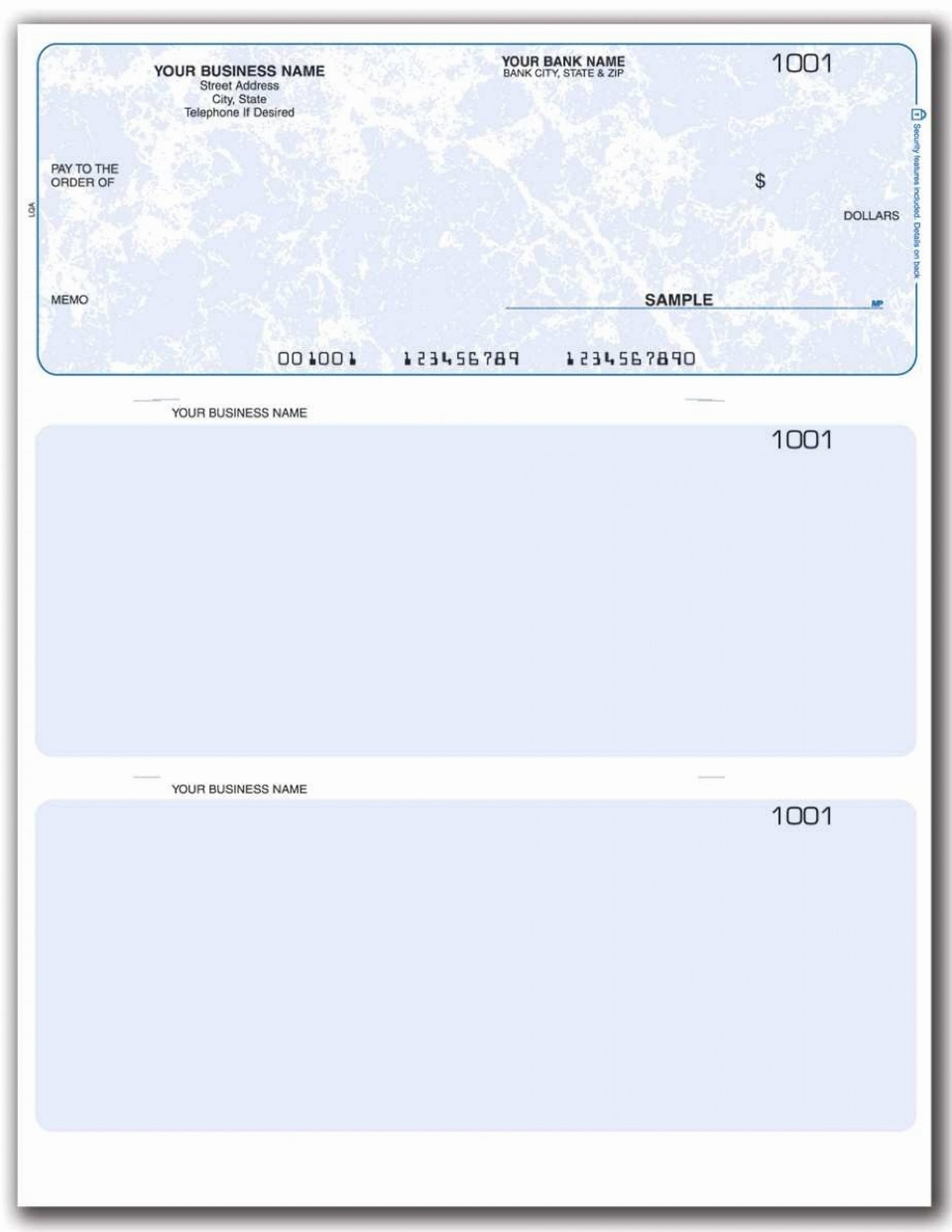 002 Simple Busines Check Template Word Example  Free Blank Document1920