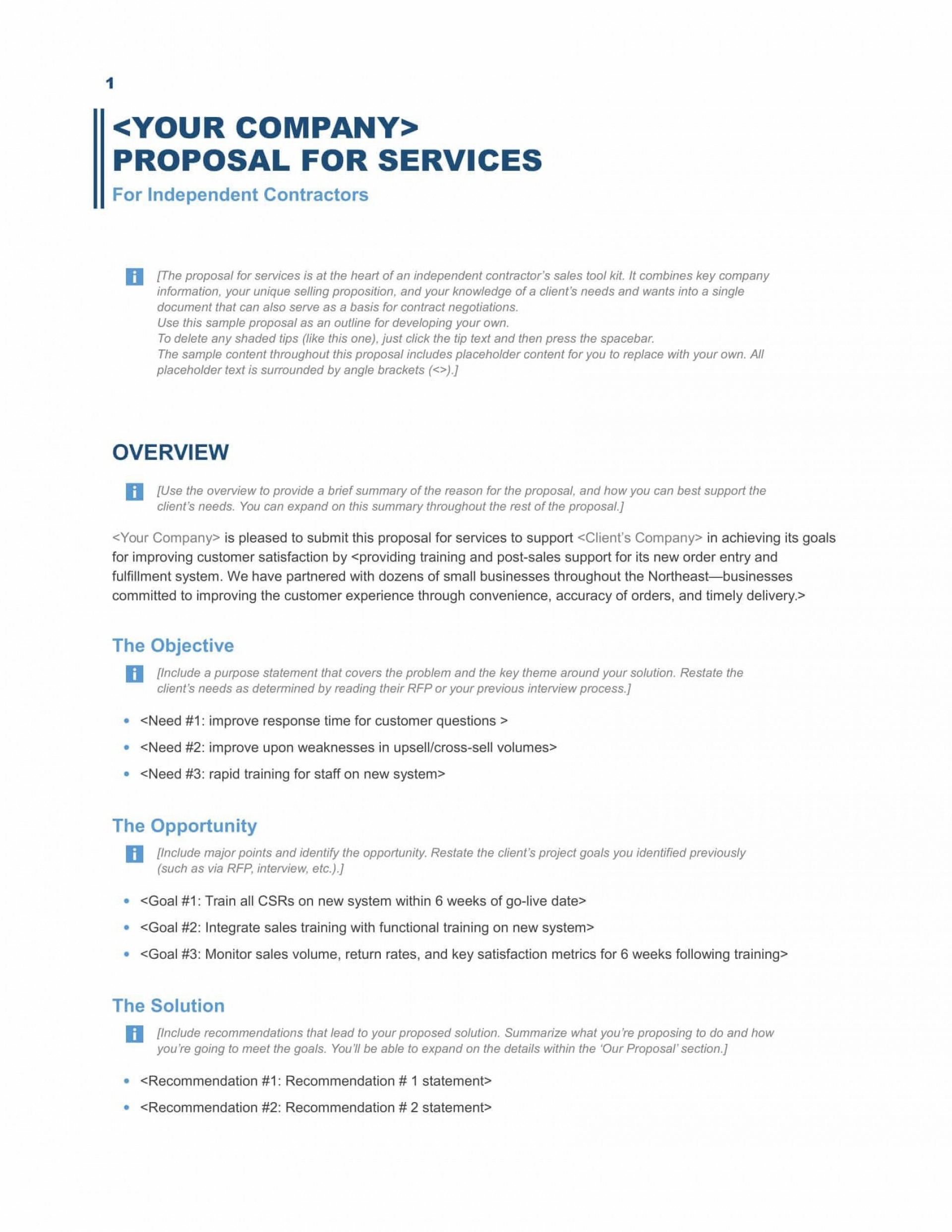 002 Simple Busines Proposal Sample Pdf Free Download Concept  Project1920