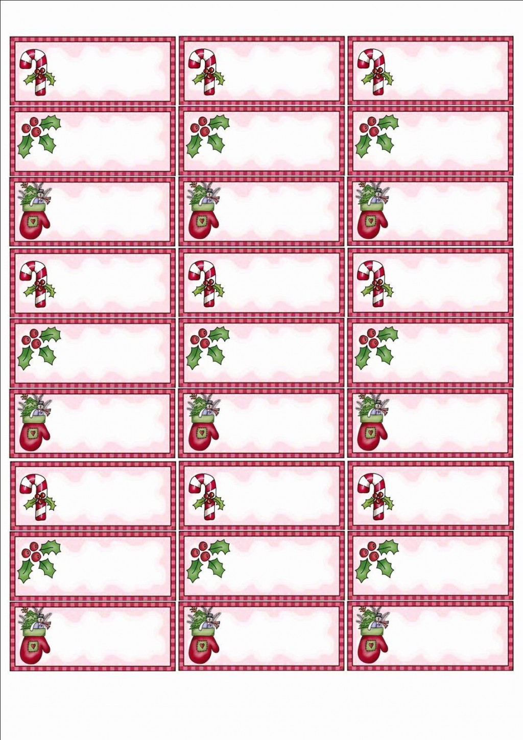 002 Simple Christma Addres Label Template High Def  Free Download Shipping CardLarge