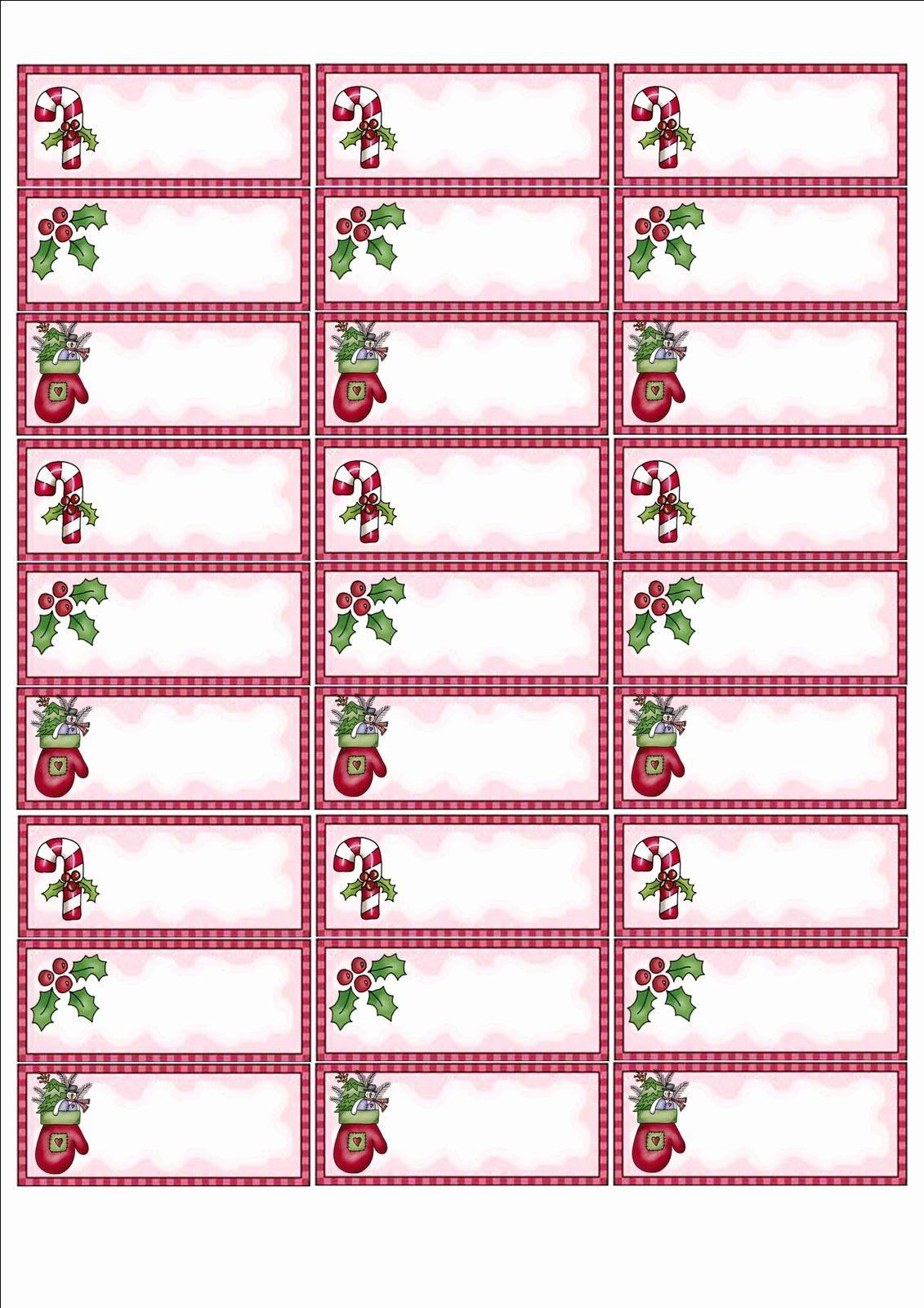 002 Simple Christma Addres Label Template High Def  Free Download Shipping CardFull