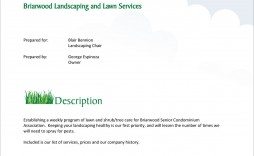 002 Simple Commercial Lawn Care Bid Template Example
