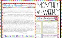 002 Simple Elementary School Newsletter Template Inspiration  Clas Teacher Free Counselor