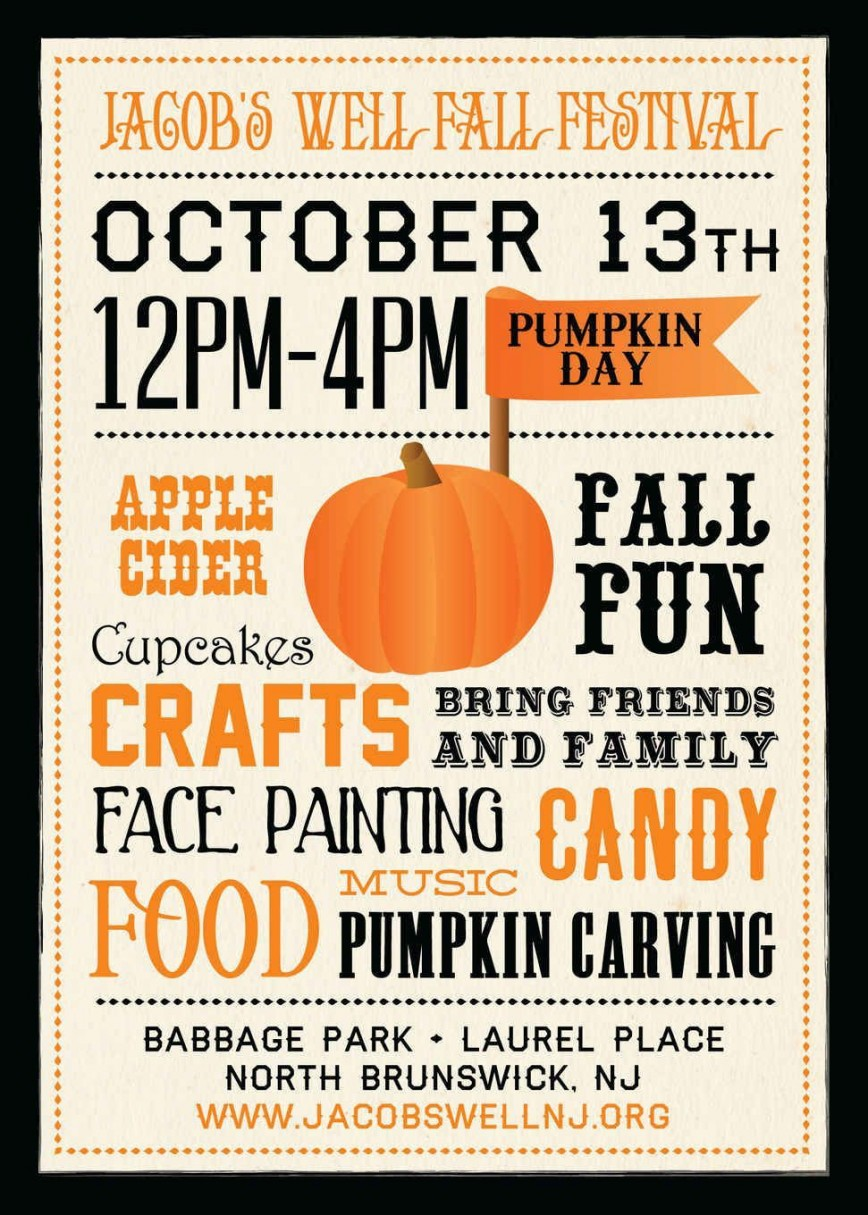 002 Simple Fall Festival Flyer Template Inspiration  Free Word