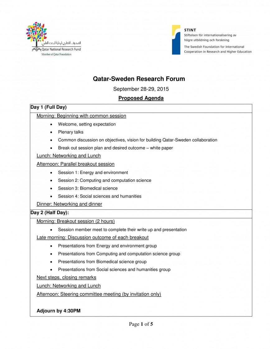 002 Simple Formal Meeting Agenda Template Idea  Pdf Ppt