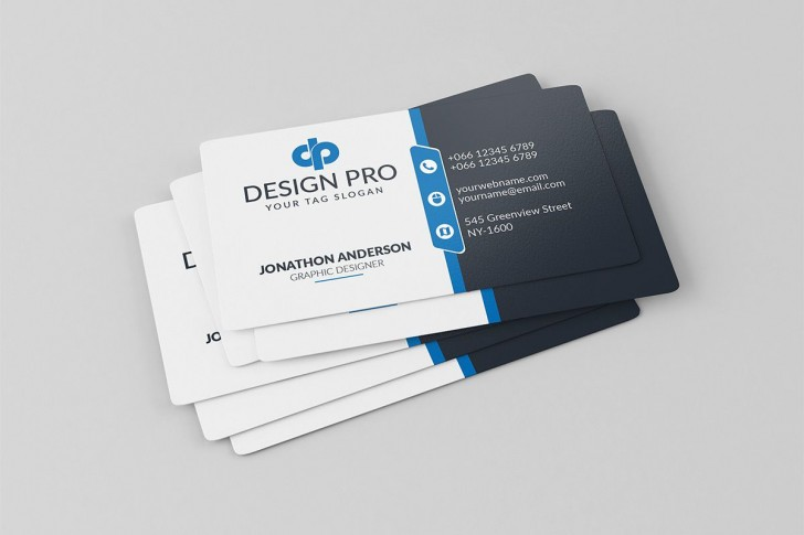 002 Simple Free Adobe Photoshop Busines Card Template Highest Clarity  Download728