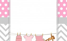 002 Simple Free Baby Shower Printable Girl High Definition  Invitation