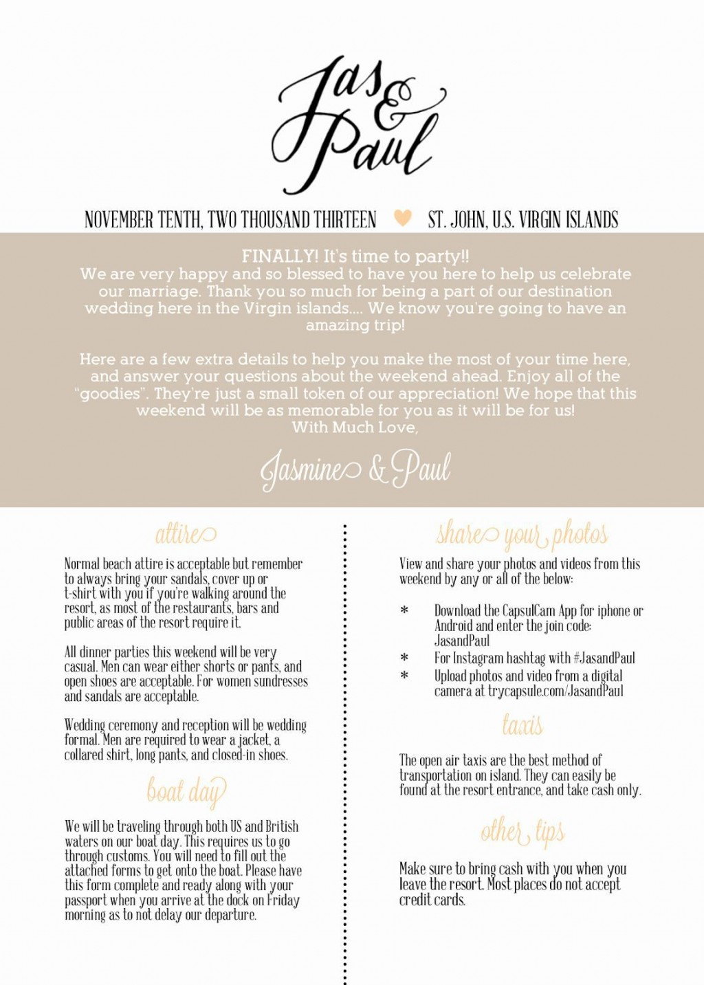 002 Simple Free Destination Wedding Welcome Letter Template Picture Large