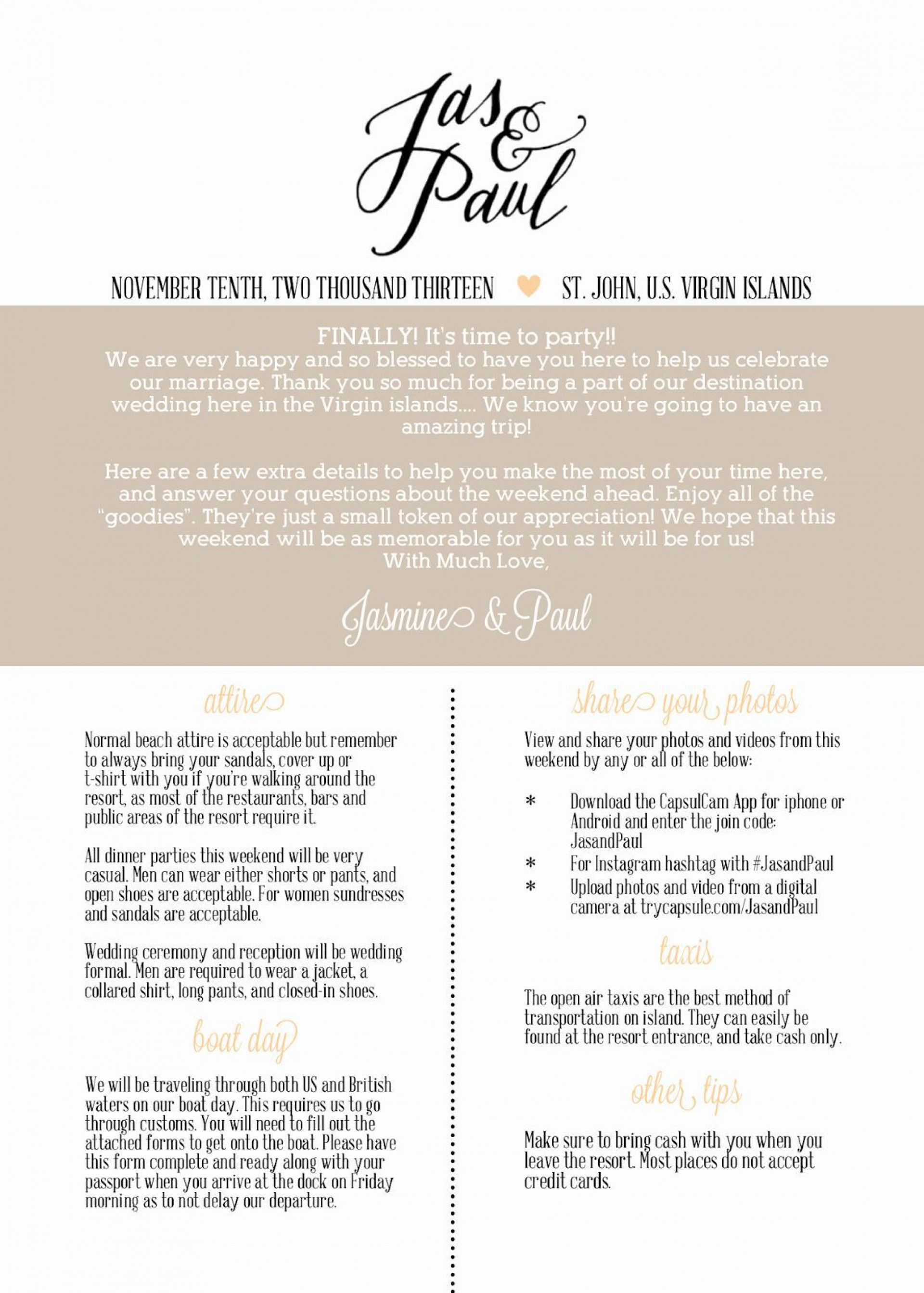 002 Simple Free Destination Wedding Welcome Letter Template Picture 1920