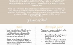 002 Simple Free Destination Wedding Welcome Letter Template Picture