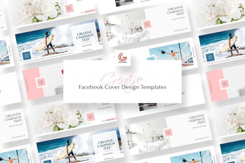 002 Simple Free Facebook Cover Template High Definition  Templates PhotoshopLarge