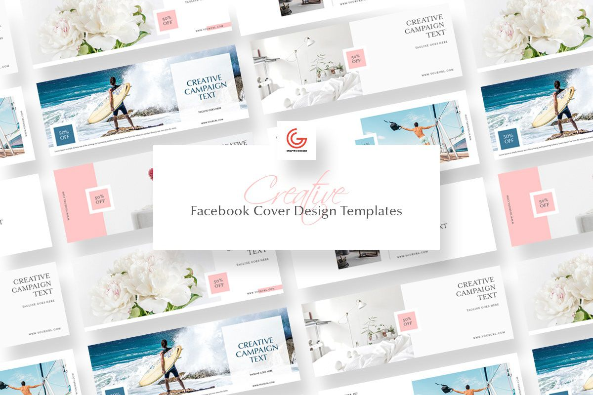 002 Simple Free Facebook Cover Template High Definition  Templates PhotoshopFull