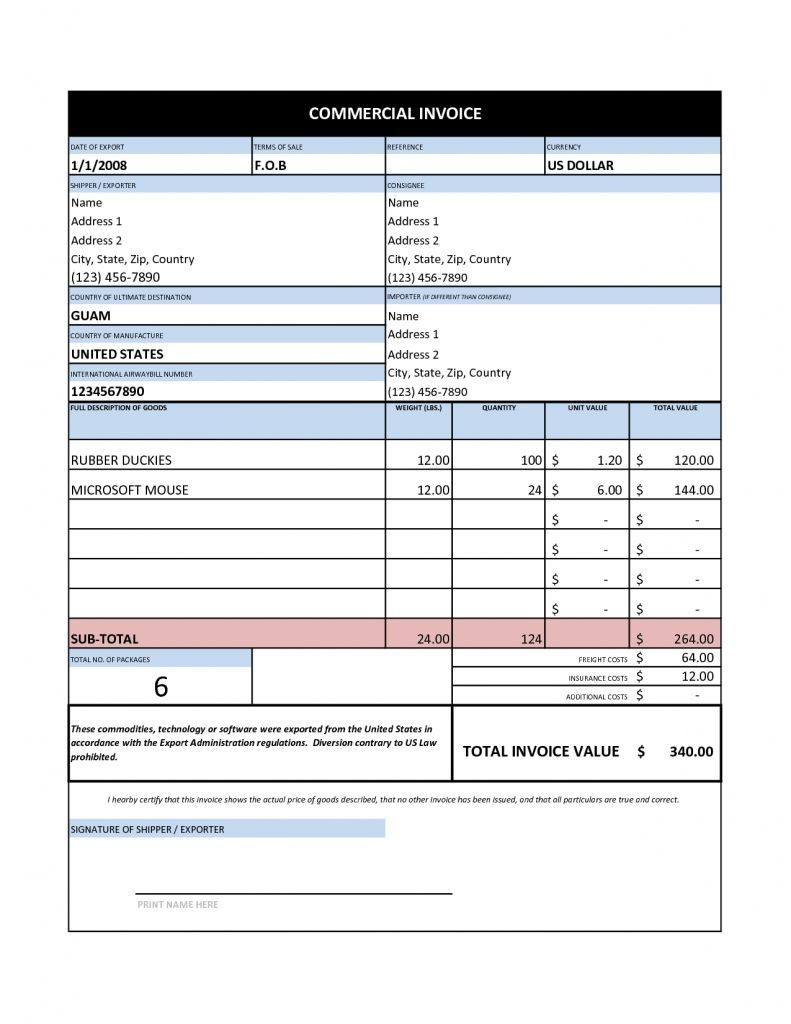 002 Simple Free Invoice Template Excel Idea  Proforma Delivery Receipt Tax South AfricaFull