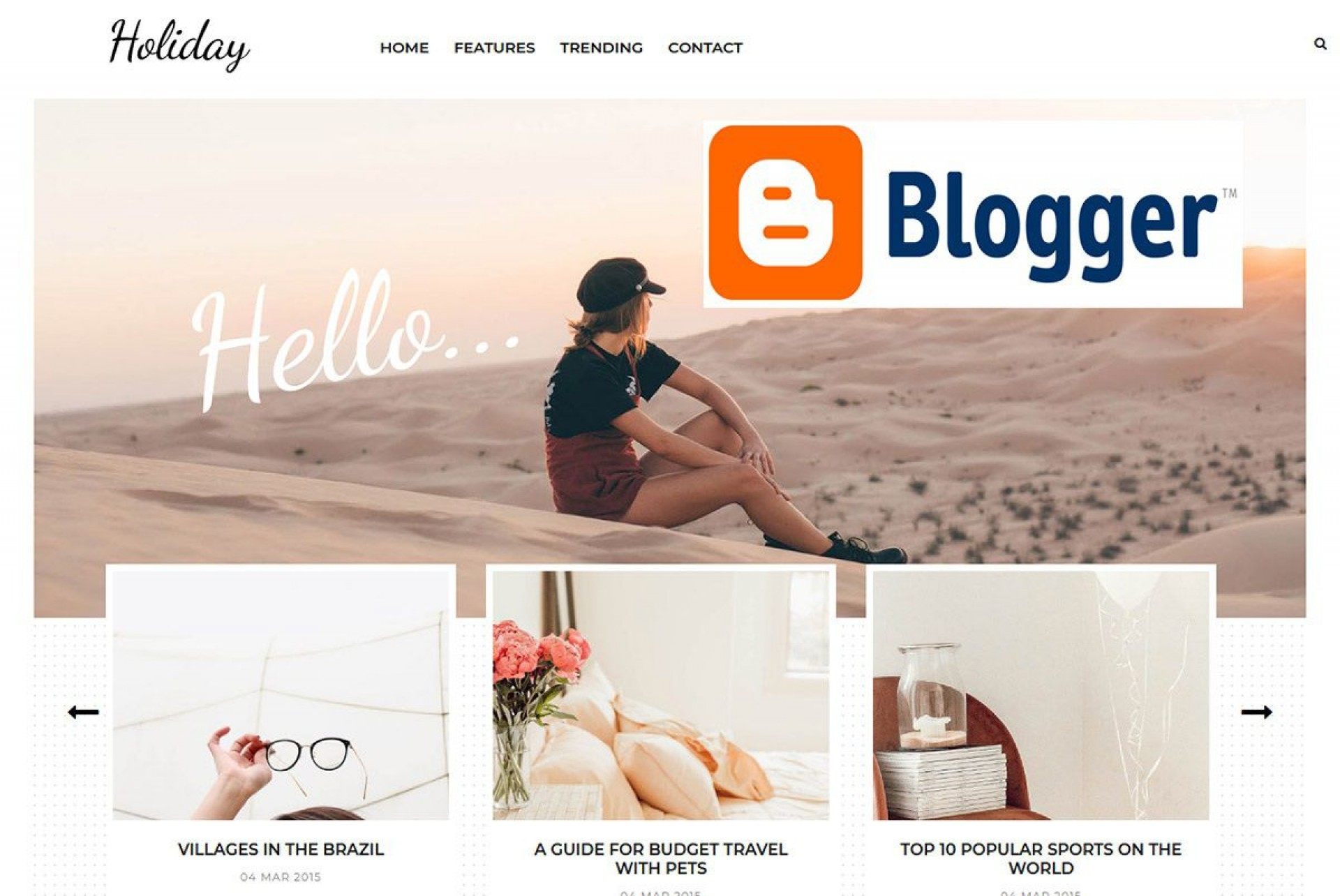 002 Simple Free Responsive Blogger Template With Slider Photo 1920