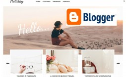 002 Simple Free Responsive Blogger Template With Slider Photo