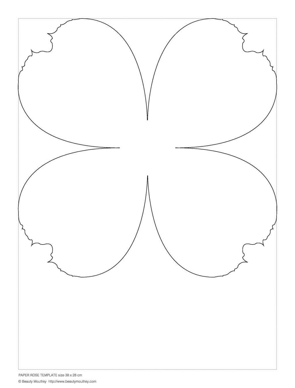 002 Simple Free Small Paper Flower Petal Template Highest Clarity  TemplatesLarge