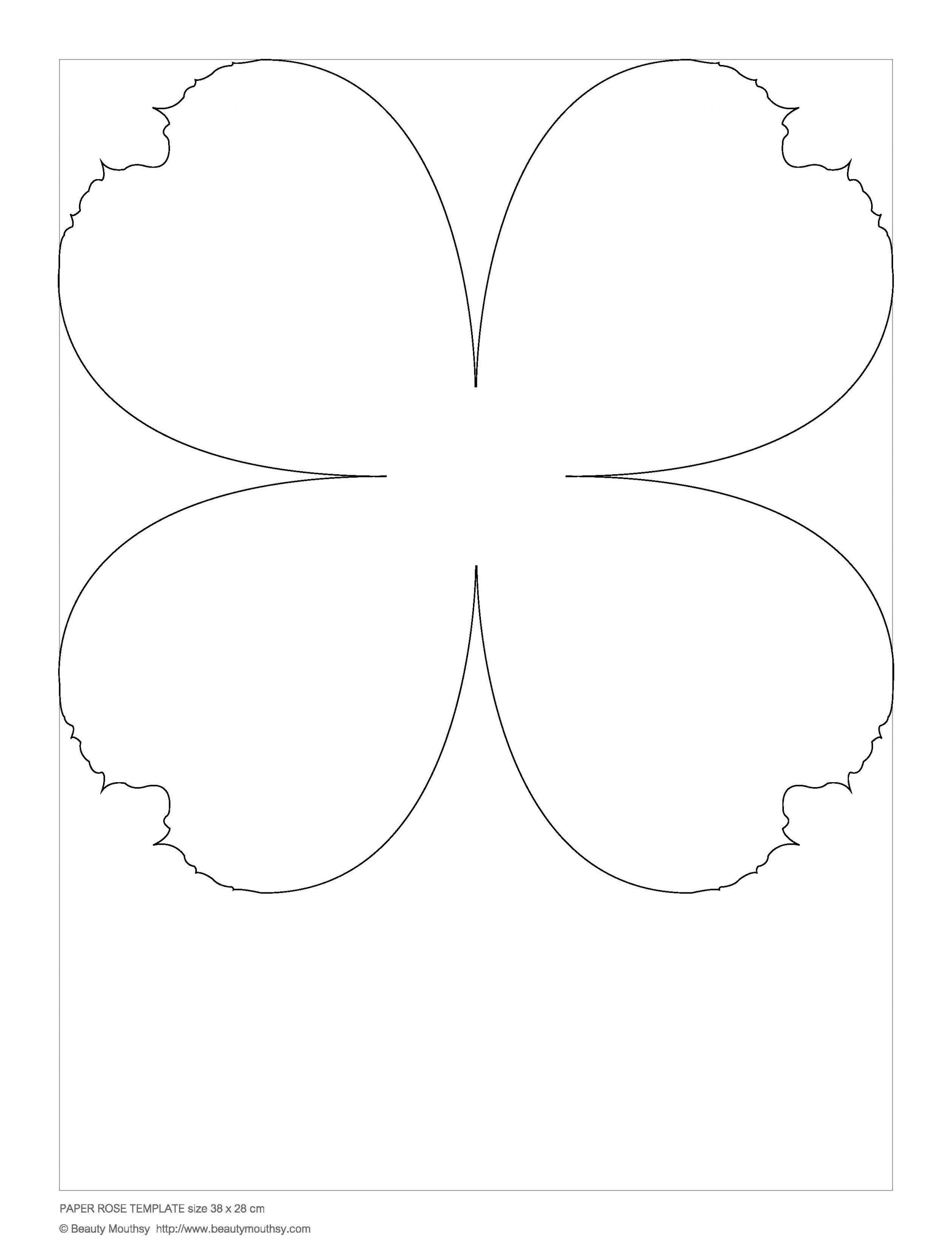 002 Simple Free Small Paper Flower Petal Template Highest Clarity  Templates1920