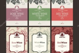002 Simple Free Wine Label Template Concept  Bottle Microsoft Word Online Psd