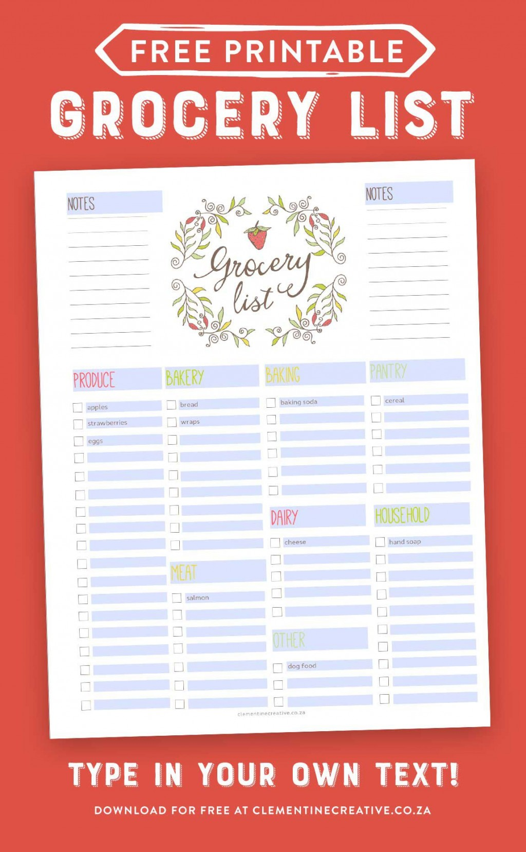 002 Simple Grocery List Template Word Doc Highest Clarity  Shopping DocumentLarge