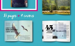 002 Simple Magazine Template Free Word Idea  For Microsoft Download Article