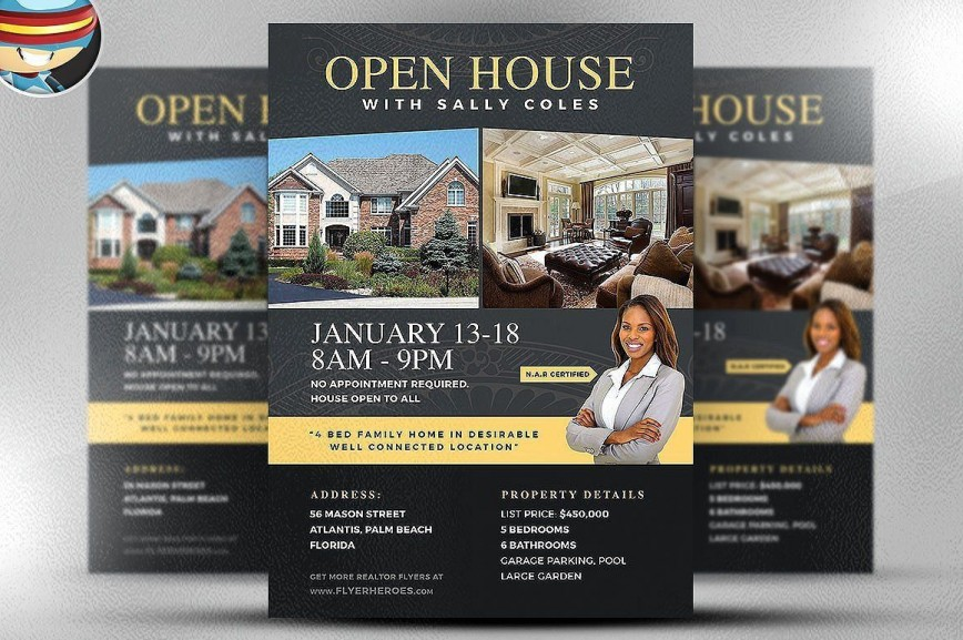 002 Simple Open House Flyer Template Free High Resolution  Mortgage Holiday