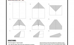 002 Simple Printable Paper Airplane Instruction Inspiration  Instructions Plane