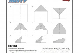 002 Simple Printable Paper Airplane Instruction Inspiration  Plane