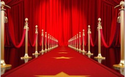 002 Simple Red Carpet Invitation Template Free Picture  Download