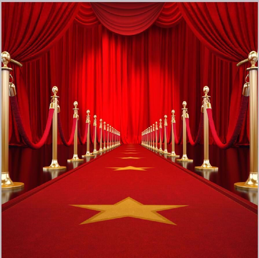 002 Simple Red Carpet Invitation Template Free Picture  DownloadFull