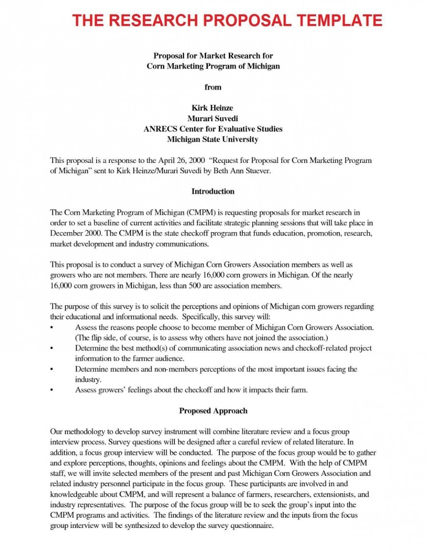 002 Simple Research Paper Proposal Example Chicago Photo 868