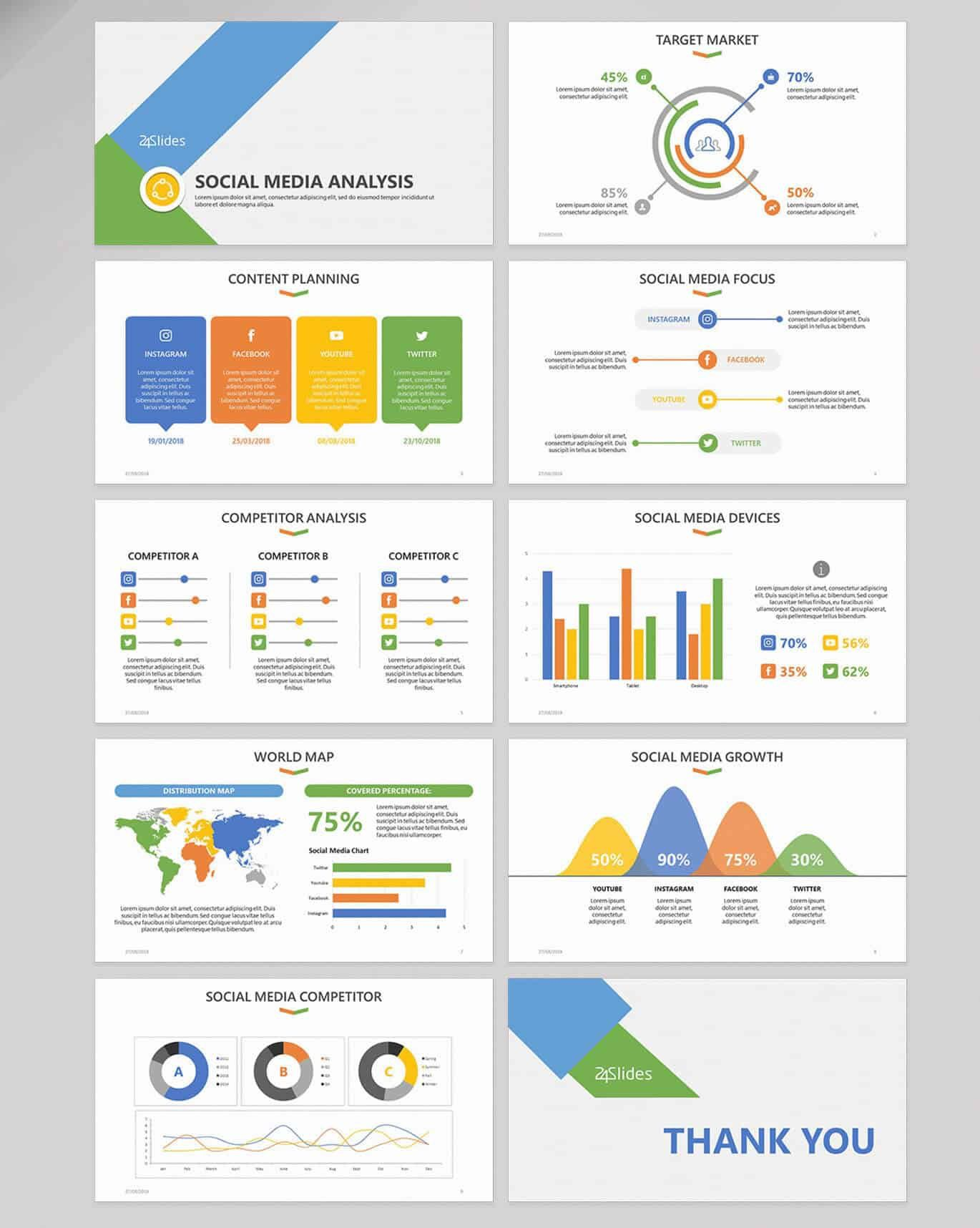 002 Simple Social Media Proposal Template Ppt Image Full