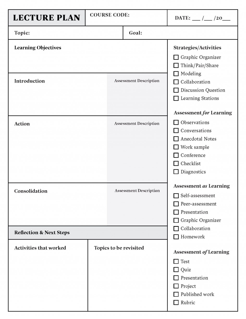 002 Simple Template For Lesson Plan Image  Plans Pdf High School SampleLarge