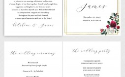 002 Simple Wedding Order Of Service Template Free Idea  Uk Church Download
