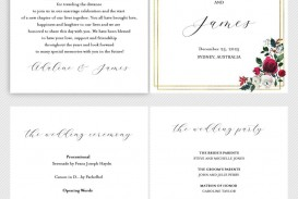 002 Simple Wedding Order Of Service Template Free Idea  Front Cover Download Church