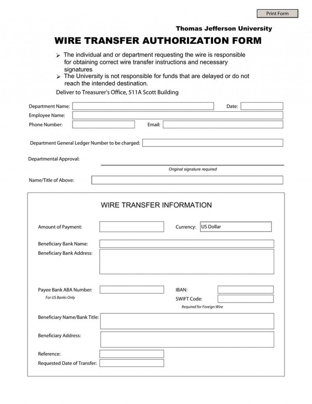 002 Simple Wire Transfer Instruction Template Idea  Request Form Chase InternationalLarge