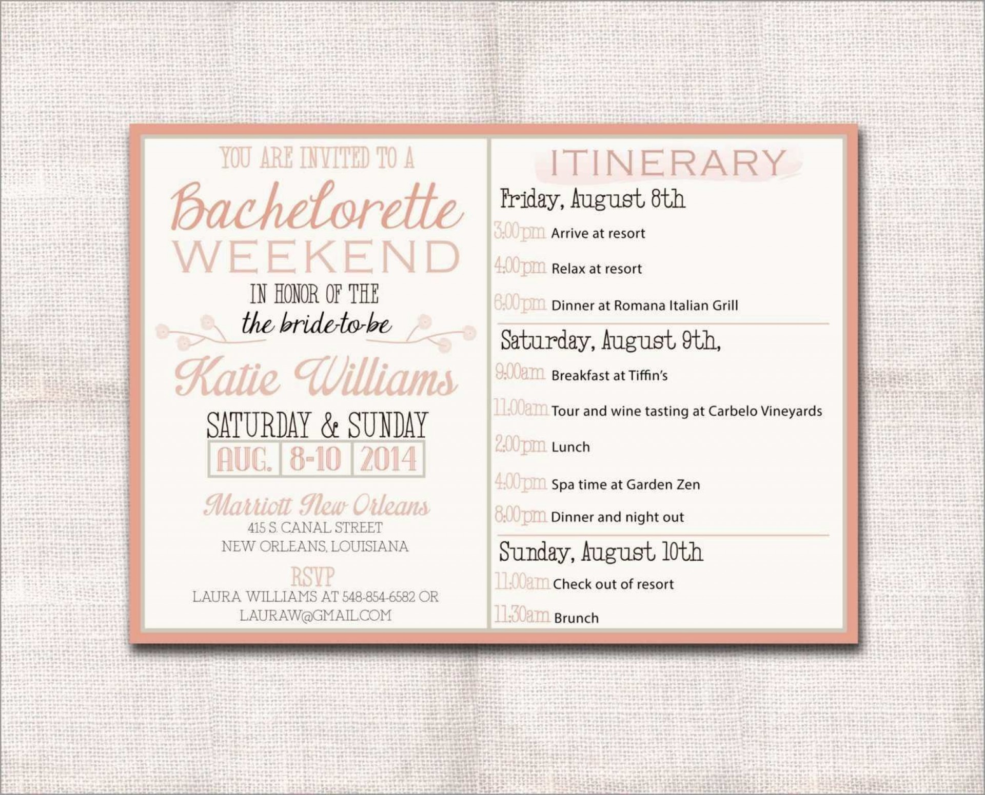 002 Singular Bachelorette Itinerary Template Free Concept  Party Editable Download1920