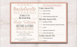 002 Singular Bachelorette Itinerary Template Free Concept  Party Editable Download