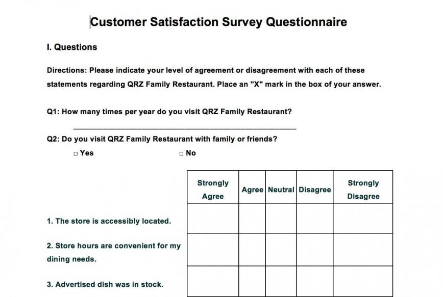 002 Singular Customer Satisfaction Survey Template Word Sample  Doc Microsoft Form
