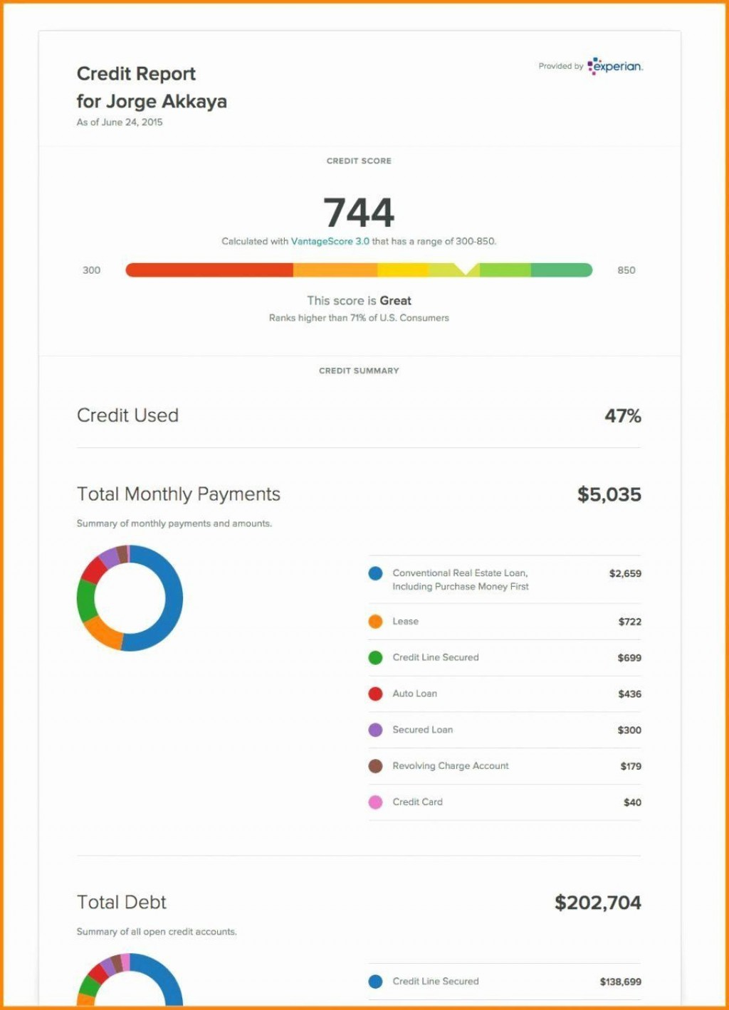 002 Singular Fake Credit Report Template Example  Karma EquifaxLarge