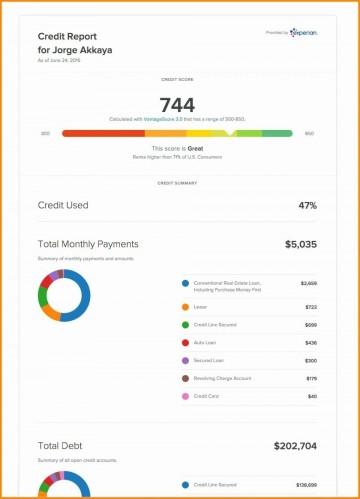 002 Singular Fake Credit Report Template Example  Karma Equifax360