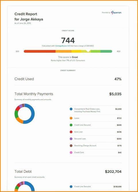 002 Singular Fake Credit Report Template Example  Karma Equifax480