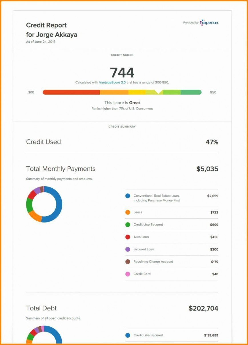 002 Singular Fake Credit Report Template Example  Karma Equifax868