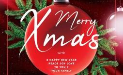002 Singular Free Christma Flyer Template High Definition  Templates Holiday Invitation Microsoft Word Psd