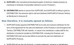 002 Singular Free Exclusive Distribution Agreement Template Uk Image