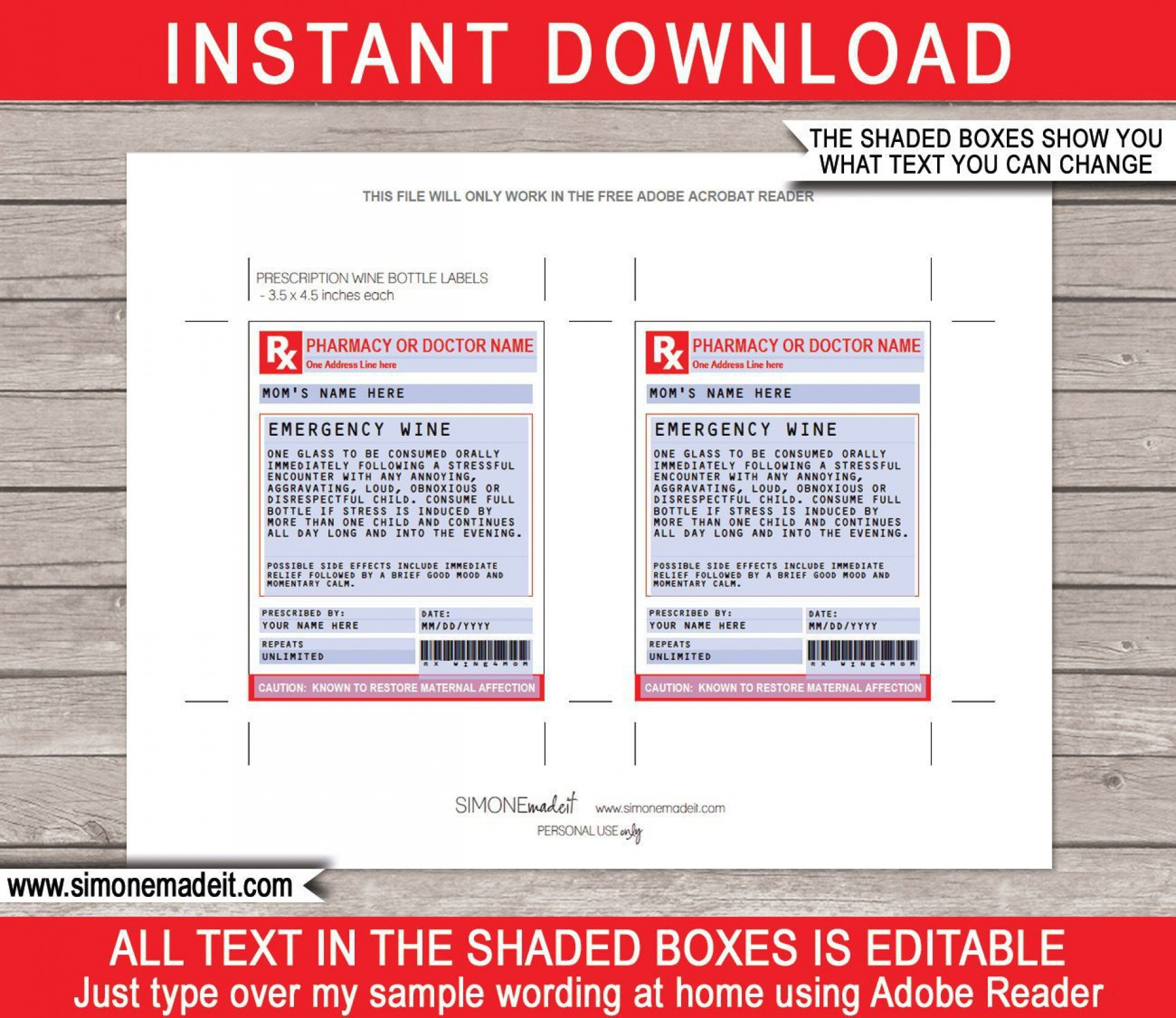 002 Singular Free Fake Prescription Label Template High Def 1920
