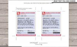 002 Singular Free Fake Prescription Label Template High Def