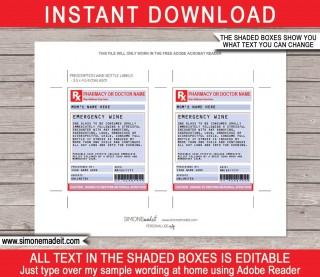 002 Singular Free Fake Prescription Label Template High Def 320