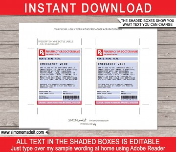 002 Singular Free Fake Prescription Label Template High Def 360